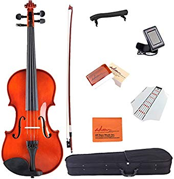 ADM Acoustic Violin 3/4 Size Handcrafted Solid Wood Student Starter Kit