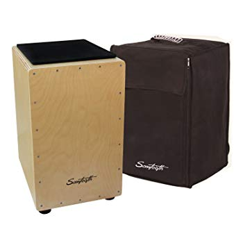 Saw Tooth ST-CJ120B Cajon Birch Wood With Padded Seat Cushion And Carry Bag