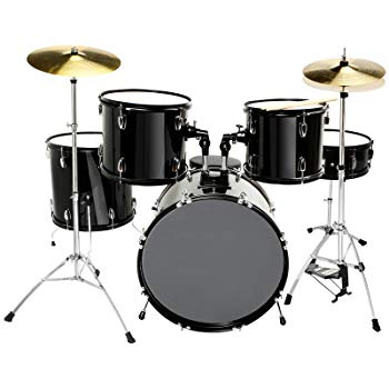 LAGRIMA Full Size 5 Piece Complete Adult Drum Set