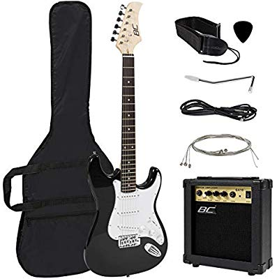 Best Choice Products 41in Full Size Beginner Electric Guitar Bundle