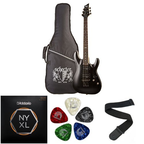 C-1 SGR By Schecter Beginner Electric Guitar Accessories Bundle