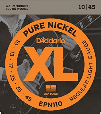 D'Addario EPN110 Pure Nickel Electric Guitar Strings