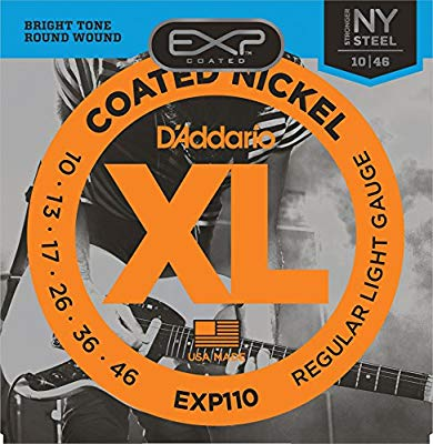 D'Addario EXP110 Coated Electric Guitar Strings