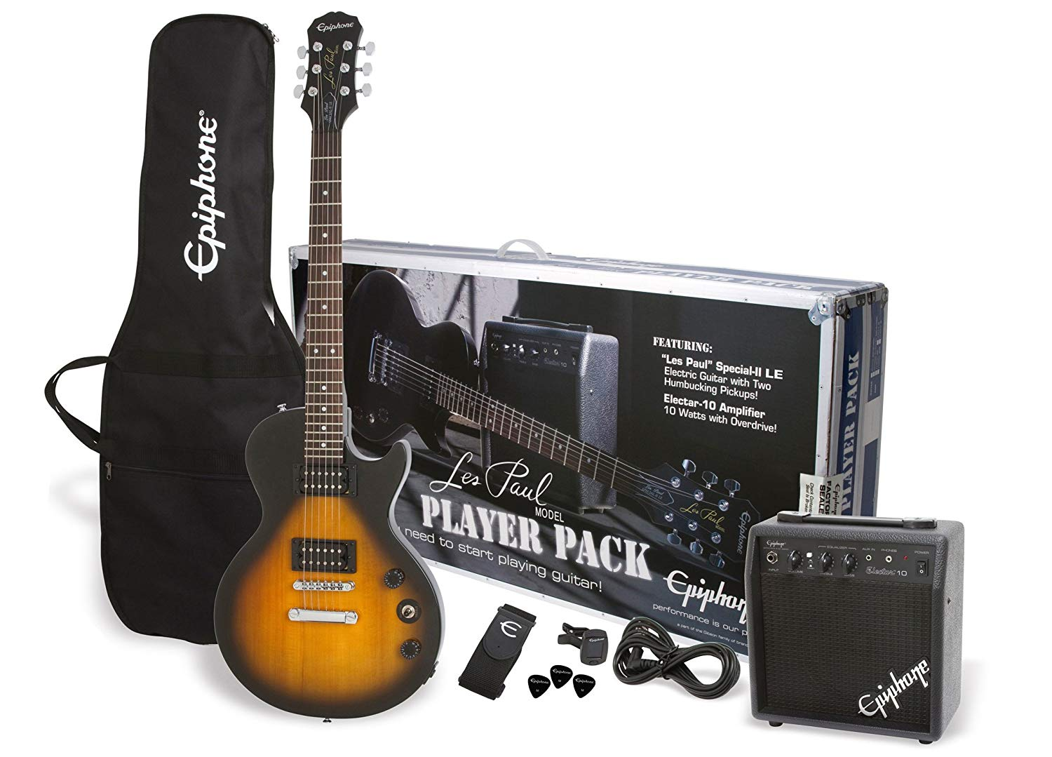 Epiphone PPEG-EGL 1VS1 Les Paul Electric Guitar Player Package