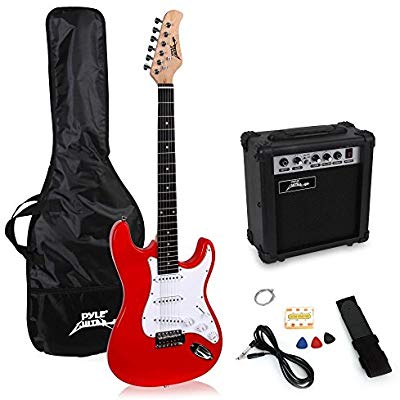 PylePro Full Size Electric Guitar Package (PEGKT15R)