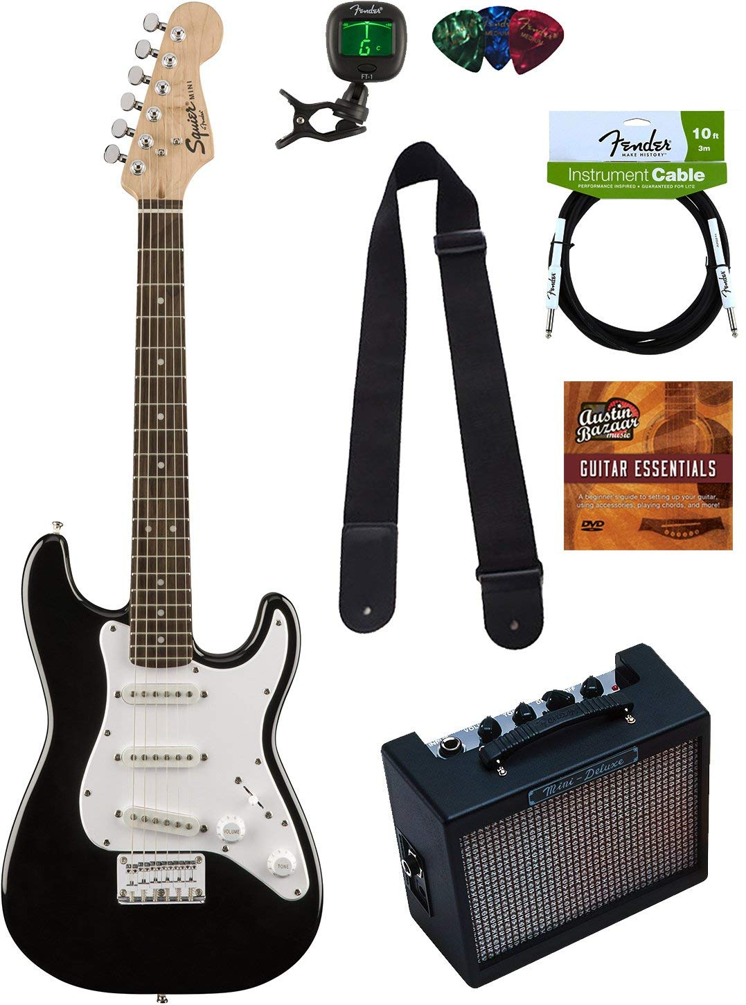 Squier By Fender Mini Strat Electric Guitar Pack