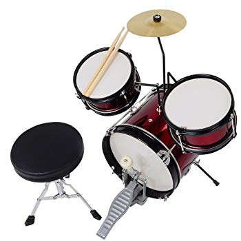 3pcs Junior Kids Child Drum Set Kit