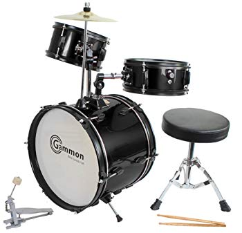 Drum Set Black Complete Junior